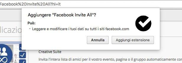 aggiungi estensione facebook