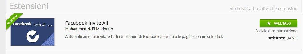 facebook invite all aggiunto