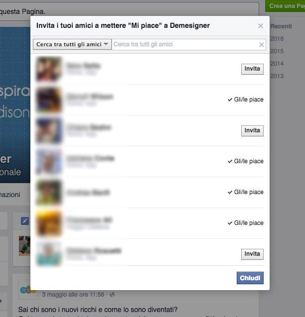 invita amici facebook